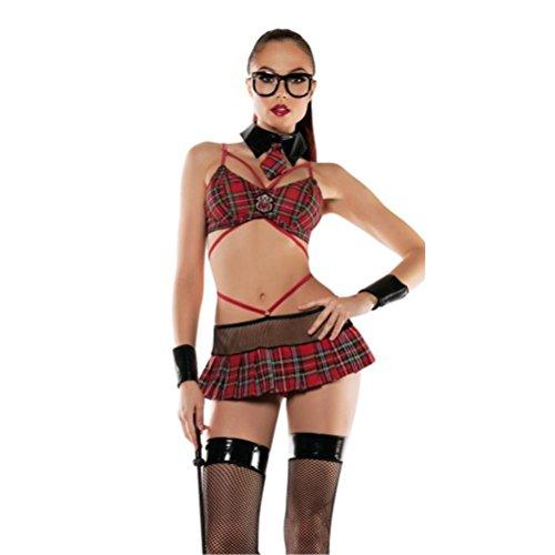 CYY Frauen Schulmädchen Sexy Dessous Unterhemd Versuchung Spaß Anzug Clubwear Student - Freche Schulmädchen Kostüm