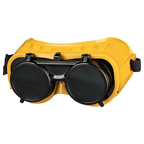 SCAPP Schweißerbrille P, klappbar, belüftet, aus Weichplastik, für Gläser Ø 50 mm, inkl. Schutzgläser DIN 5, Autogenbrille