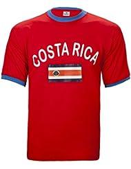BRUBAKER Herren oder Damen Costa Rica Fan T-Shirt Rot Gr. S - XXXL