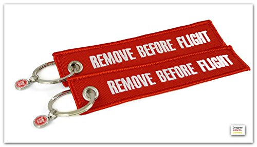 runway-concept-porte-cles-remove-before-flightr-lot-de-2-anneau-porte-cles-inclus