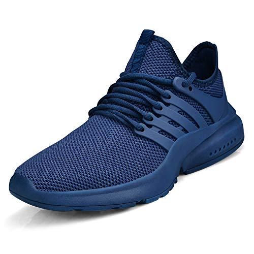 ZOCAVIA Damen Herren Turnschuhe Ultraleichte Laufschuhe Atmungsaktive Sportschuhe Gym Tennis Schuhe Blau 41