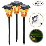 EFGS LED Luces Llama Solar, IP65 Impermeable Luces de