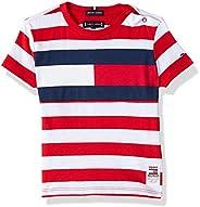 Tommy Hilfiger Boy's Cut & Sew Stripe Short Sleeve