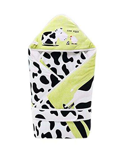 Milchkuh-Muster-weiche und bequeme Baumwollbaby Swaddle Blanket