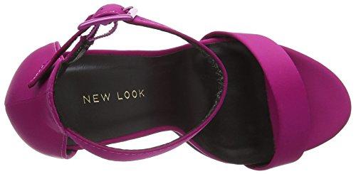 New Look Wombat, Sandali con Cinturino alla Caviglia Donna Rosa (Bright Pink)
