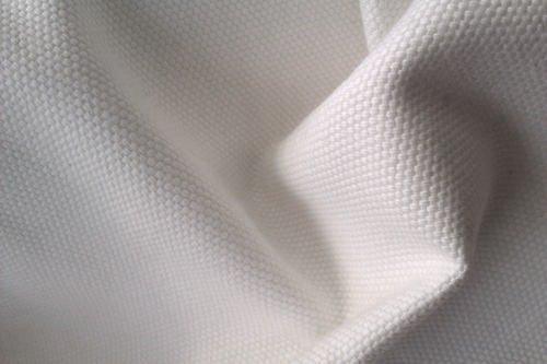 cotton canvas fabric white colour new off the roll per metre