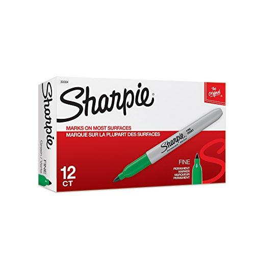 sharpie-fine-tip-permanent-marker-colore-verde-confezzione-da-12