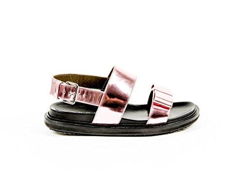 Marni Womens Flat Sandal FBMSQ15G01 LV431 00C20 QUARZO pink