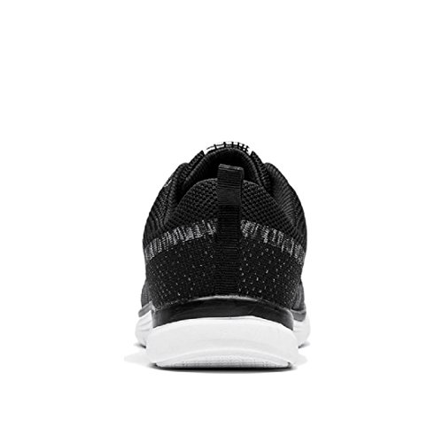 Herren Sportschuhe Atmungsaktiv Lässige Schuhe Licht Ausbilder Draussen Laufschuhe Black