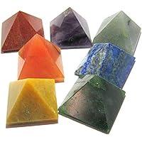 Set von sieben Chakra-Pyramiden Bagua Vaastu Kristall Heilung Wellness Psychische Energie Feng Shui Reiki Positive... preisvergleich bei billige-tabletten.eu