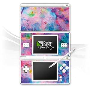 DeinDesign Skin kompatibel mit Nintendo DS Lite Folie Sticker Wasserfarbe Malerei Farbe