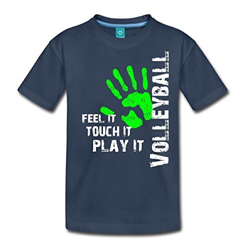413f8199ea0b Spreadshirt Volleyball Feel It Teenager Premium T-Shirt, 158 164 (12 Jahre