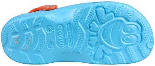 Coqui, Mules pour Fille 8701 Blue/Orange