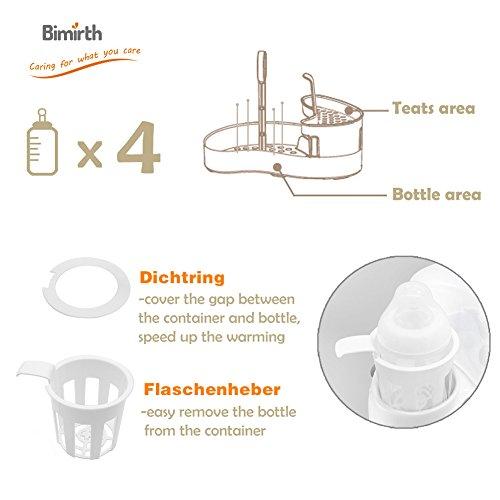 4 in 1 Flaschenwärmer, Bimirth warme Milch Sterilisation mit Heizung, wärmer, Elektro-Dampf-Sterilisation und Lagerung für Food Bottle Trocknung - 5