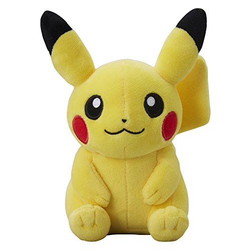 Pokemon-Center-original-mueca-de-la-felpa-Pikachu-Sentado-peluche-Pokemon-Sol-y-la-Luna-Pokemon-Go
