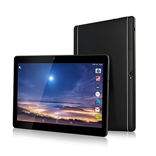 Android 7.0 Tablet 10 Zoll 1920*1200 Full HD IPS Touchscreen Dual Kamera 2MP und 5MP, 2GB RAM 32GB Speicher Quad Core CPU, WiFi/ WLAN/ Bluetooth/ GPS TYD-108(Schwarz) (Schwarz)