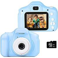 """le-idea Cámara para niños Cámara de Fotos Digital 2 Objetivos Selfie 12MP Cámara Digital 1080P HD Video cámaras para Niños Niñas con Zoom Digital 4X , 2"""" IPS, Azul【El Idioma ha Sido actualizado】"""