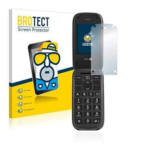 BROTECT Schutzfolie Matt für Doro PhoneEasy 613 [2er Pack] - Anti-Reflex, Anti-Fingerprint, Anti-Kratzer