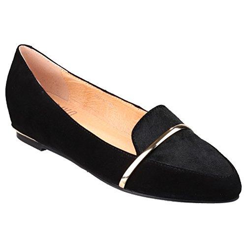 Riva Taranto Suede Slip à faible talon chaussures dames Noir
