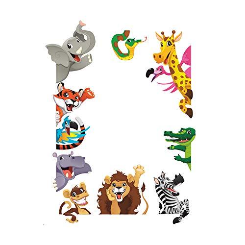 mxdmai Creativa Fondos de Animales de Dibujos Animados patrón León Dinosaurio decoración de la Pared Etiquetas de la Pared Dormitorio Tipo Pegatinas ZY1235