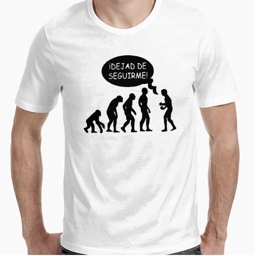 Camiseta - diseño Original - Camiseta Dejad de Seguirme - L