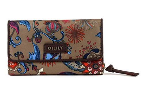 Oilily Sea of Flowers L Wallet Bronze