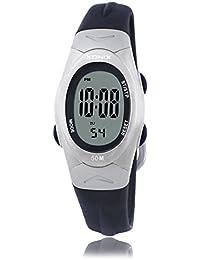 Reloj electrónico digital de múltiples funciones de los ni?os,Jalea led 50 m resina resistente al agua correa alarma cronómetro chicas o chicos moda reloj de pulsera vintage-A