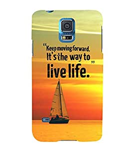FUSON Keep Moving Live Life 3D Hard Polycarbonate Designer Back Case Cover for Samsung Galaxy Grand Neo Plus I9060I :: Samsung Galaxy Grand Neo+