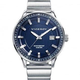 Viceroy Reloj Analogico para Hombre de Cuarzo con Correa en Acero Inoxidable 42317-37