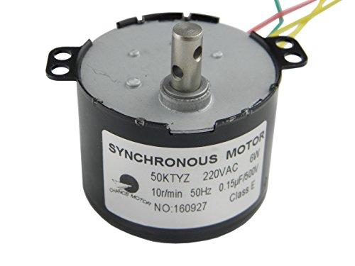 CHANCS 50KTYZ AC 220V motoréducteur 10RPM CW/CCW (Controlable) 6W Puissance Torque 7.5Kg.cm Uple élevé Aimant Permanent Moteur Synchrone