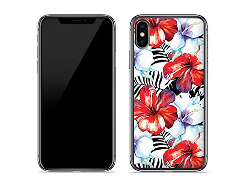 etuo Apple iPhone XS Max - Hülle Fantastic Case - Exotische Blumen - Handyhülle Schutzhülle Etui Case Cover Tasche für Handy