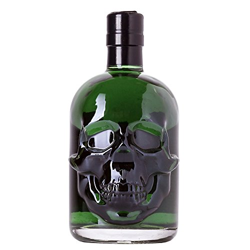 Grüner Absinth Hamlet Classic | Erhöhter Wermut/Thujongehalt | Natürlich grüne Farbe (ohne künstlichen Farbstoff) | Totenkopf/Skull Flasche | 69{6ef3bdcb167627b5b3081ccb53f38cc39e2803666572959d3e18f73277b2242a} Alkohol | (1x 0.5 l)