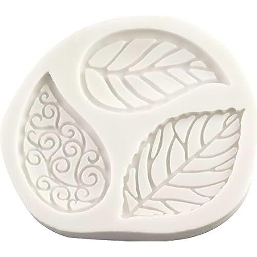 figuras kawaii porcelana fria Filigrana hojas molde de silicona