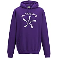 Cheeky Witch® Sisterhood with Broomsticks Pentacle Pagan Wiccan Unisex Hoody