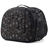 SRI Travel Pet Storage Fold able Pet Carrier Bag for Cat and Puppy (Black)