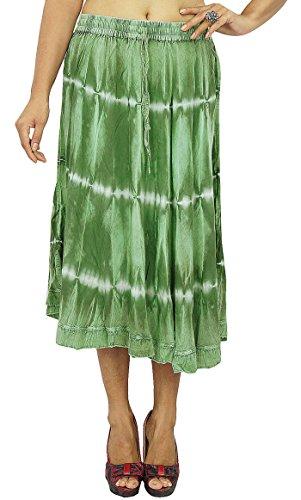 Maxi-Strand-Abnutzungs-Rayon-Zigeuner-Rock-lange Boho Hippie-Frauen-Sommer-Kleidung (Hippie Wickelrock Länge Voller)