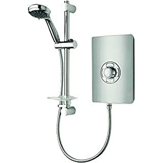 Triton Aspirante 9.5KW Brushed Steel Electric Shower - Includes Head + Riser