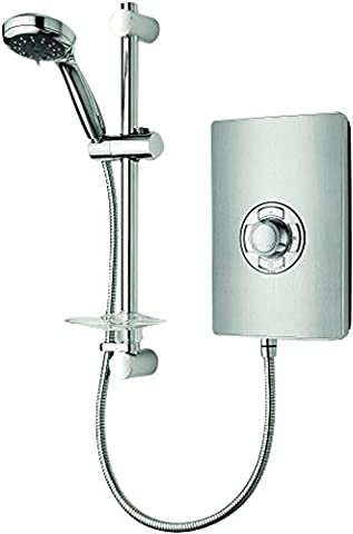 Triton Aspirante Brushed Steel Effect 9.5kW Electric Shower With 5