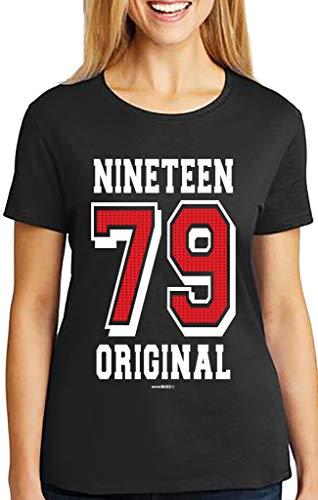 40th birthday gifts regalo donna 40 anni compleanno original 1979 maglietta t-shirt
