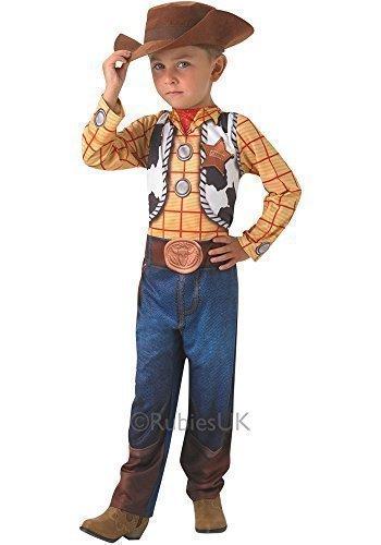 Woody Cowboy Hut (Jungen Offiziell Disney Klassisch Toy Story Woody Cowboy Büchertag Kostüm Kleid Outfit - Gelb, 5-6)