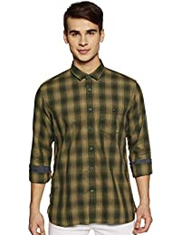 Louis Philippe Jeans Men's Checkered Slim fit Casual Shirt