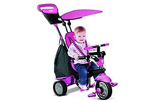 SMARTRIKE Glow Rosa Brillo Touch Dirección Triciclo 4en 1