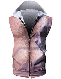 WY1688 T-Shirt sans Manches pour Homme Sweat Capuche Capuche Tops Capuchon e404969b0a2d