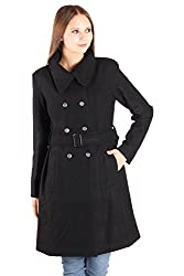 Owncraft Black Double Breasted Wool Coat
