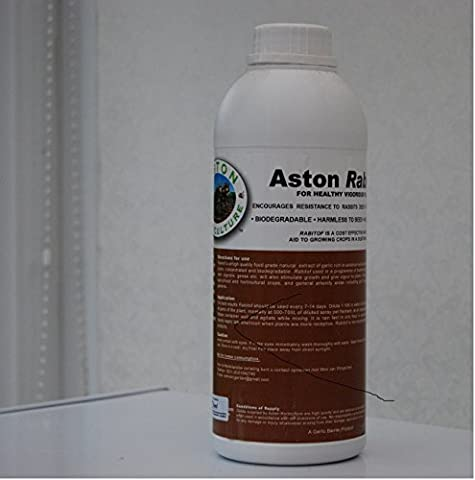 Aston Rabitof natural repellent for rabbits, deer, pigeons biodegradable, concentrated 1 litre