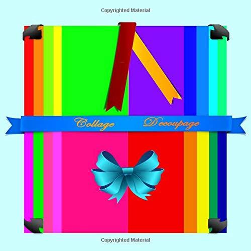 COLLAGE: DECOUPAGE (Scrapbook Paper Rainbow Colored Sheet Collage Decoupage Scrapbooking (5x8) series, Band 2) -