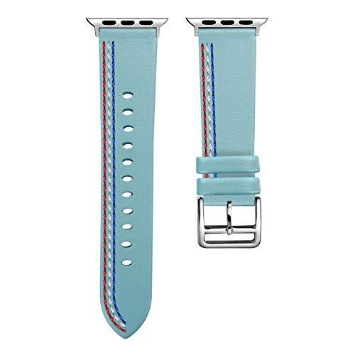 YouN-Lederarmband mit 38-mm-Uhrenarmband für die iWatch-Serie 1 2 3 (Blau)