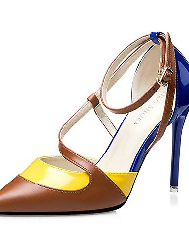 WSS 2016 Chaussures Femme-Décontracté-Noir / Bleu / Rose-Talon Aiguille-Talons-Chaussures à Talons-Polyuréthane black-us6 / eu36 / uk4 / cn36