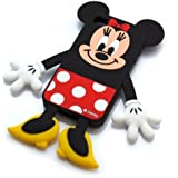 Disney Minnie Mouse Die-Cut Silicone Cover for iPhone 4S/4 (japan import)