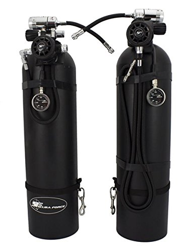 Scuba Force Sidemount Tauch Sets, Schwarz, One Size